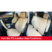 Full Sets Leather Like Car Seats Cushion Covers For Oldsmobile 80255 Tan