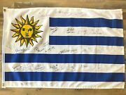 Uruguay Flag Signed By Full 2003 Rugby World Cup National Team - Authentic