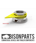 +32mm X 100 Universal Solid Yellow Wheel Nut Indicator Checkpoint Cp32mmsy X 100