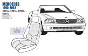 Mercedes 300 320 500 600sl Front Leather Seat Cover Set 96-02 Oem New