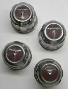 Vintage Toyota Lot Of 4 Wheel Center Caps 3 1/8 Wide Bottom 2 1/2 Tall Original