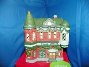 Dickens Collectables Towne Series Hand-painted Porcelain Lighted Police Station