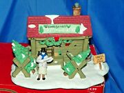 Dickens Collectables Towne Series Christmas Trees And Wreaths Lights Up