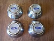 Ford Truck Center Caps 7 Inch Dog Bowl Style Blue Logo Four Total Vintage Rare