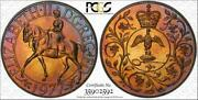 1977 Great Britain 25 Pence Pcgs Ms66 Graded And Toned Coin Only 4 Graded Higher