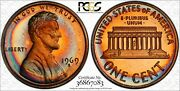 1969-s Lincoln Memorial Pcgs Pr67+rd Rainbow Color Toned Proof In High Grade