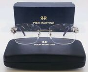 Pier Martino Ee 886 Womans Glasses W. Crystals 55-17-135 New W.case