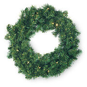 2144380 Christmas Wreath 30 Color-changing Led Lights Battery-operated 24-in.