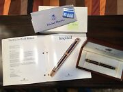 Michel Perchin Fountain Pen, Blue And Gold, Brand New In Box, Never Used