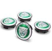 4pcs 59mm Car Wheel Center Hub Cap Cover Emblem Accessories For Jaguar Green