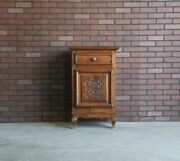 Antique French Cabinet Linen Cabinet Louis Xv Style Carved Oak Cabinet