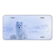 Custom Novelty License Plate With Gorgeous White Animal Snowy View Add Text