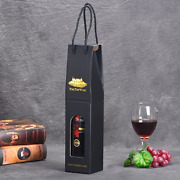 100x Single Bottle Bag Christmas Wine Present Hot Stamping Decorative Paper Bags