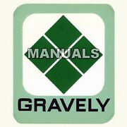 Gravely Snowblower Snow Blower Repair Service Manual Illustrated Parts List Cd