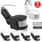 5x 12m Pir Infrared Motion Sensor Outdoor Security Detector Switch 180°led Light