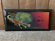 Rare Vintage Snap On Tools Wall Clock Worldwide Battery Operated