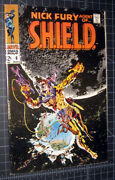 Nick Fury Agent Of Sheild 6 Classic Steranko Moon Cover, Very High Grade