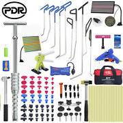 111× Pdr Dent Puller Car Body Paintless Hail Removal Push Rods Hammer Tools Kits