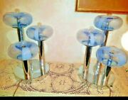 Pair Big Table Lamps Space Age 1970