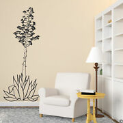 Hand Drawn Agave Americana Wall Decal Commonly Called The Century Plant B010