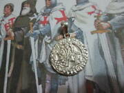 Knights Templar Ancient Seal Pendant Made Sterling Silver 925- Artisan Product
