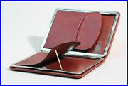 1940's Coffee Brown Leather Pouch / Etui For 5-10 149g Large Size Fountain Pens