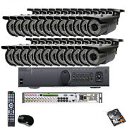 24channel Hd-tvi Dvr 2.6mp 1080p Support 4 In 1 Security Camera System 5tb Hdd