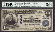 10 1902 The Clear Spring National Bank Maryland Ch 9699 Pmg 30 Epq Tough Bank