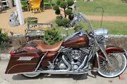 Touring Bagger Set With Speakers Color Light Root Beer. Pictured Bike 4sale 15k