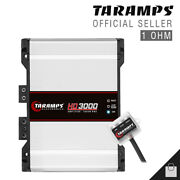 Taramps Hd 3000 1 Ohm Amplifier 3k Bass And Voice Compact Car Amp - Usa Shipping