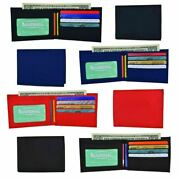 Wholesale Boys Nylon Slim Bifold Compart Id Card Holder Wallets Colors Assorted