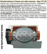 Scortecciatore Chainsaw Professional 2 Blades Roller Concave 117 With Bell