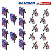 Lot Of 10 Acdelco Coils And 10 Motorcraft Sp493 Spark Plugs For Ford Lincoln