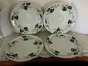 Rare Granada By Victorian China Occupied Japan Dinner Plates - Set 4 Excellent