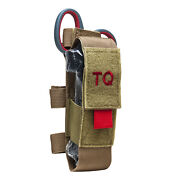 New Vism Molle Tactical Pouch Medical Kit With Tourniquet And Trauma Shears Tan
