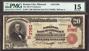 20 1902 Red Seal National Bank Of Commerce Of Kansas City Missouri Ch 3760 Pmg