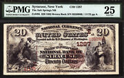 20 1882 The Salt Springs National Bank Of Syracuse New York Ch 1287 Pmg 25