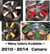 Set Of Colored Vinyl Wheel Inserts 2010 - 2014 Chevy Camaro Pick Your Color
