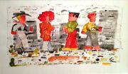 Richard Thompson Original Unique Watercolor Andldquofrieze Noonandrdquo Signed By Artist