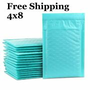 1-500 000 4x8 Teal Color Poly Bubble Mailers Fast Shipping