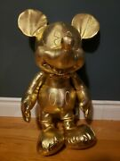 Disney Store Mickey Mouse Large Jumbo 27 Plush Gold Collection 90th...