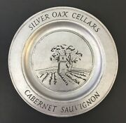 Silver Oak Cellars Cabernet Sauvignon Rare Collectible Decorative Metal Plate