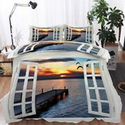 Shelter Seagulls 3d Printing Duvet Quilt Doona Covers Pillow Case Bedding Sets