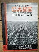1930and039s J. I. Case Co. The New Case Model Cc General Purpose Tractor Catalog
