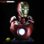 Ant Workshop 1/1 Iron Man Mk7 Bust Lighting Resin Model Ant Collections Gifts