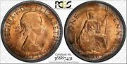 1967 Great Britain One 1 Penny Pcgs Ms64rd Circle Toned Coin High Grade