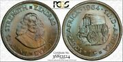 1964 South Africa 1 Cent Bu Pcgs Ms65 Color Toned Coin Only 1 Graded Higher