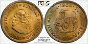 1964 South Africa 1 Cent Pcgs Ms65 Color Toned Coin Only One Graded Higher