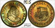 1961 South Africa 1 Cent Pcgs Pr65 Beautiful Colors Stunningly Toned