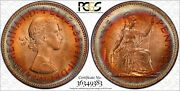 1967 Great Britain 1 One Penny Pcgs Ms65 Nicely Rainbow Color Toned Coin Wow